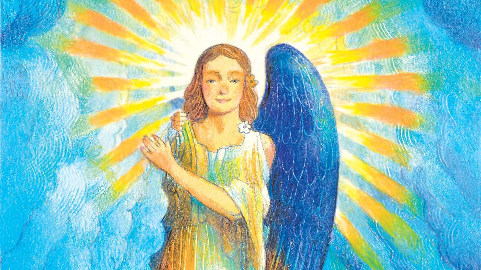 An artist's rendering of an angel princess; Illustration by Ràul Colon