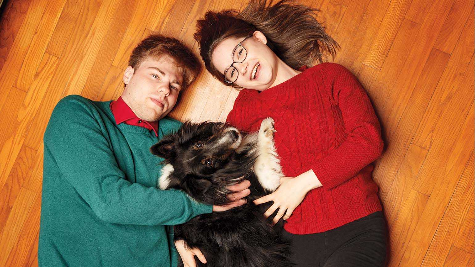 Aaron and Audra with Rusty; Photo credit: Todd Plitt
