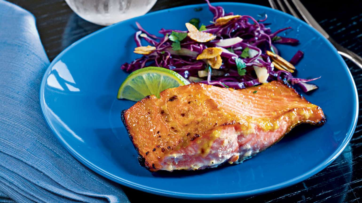 Guideposts: Miso Salmon with Lime-Ginger Glaze
