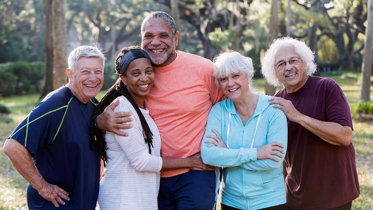 A happy group of senior adults
