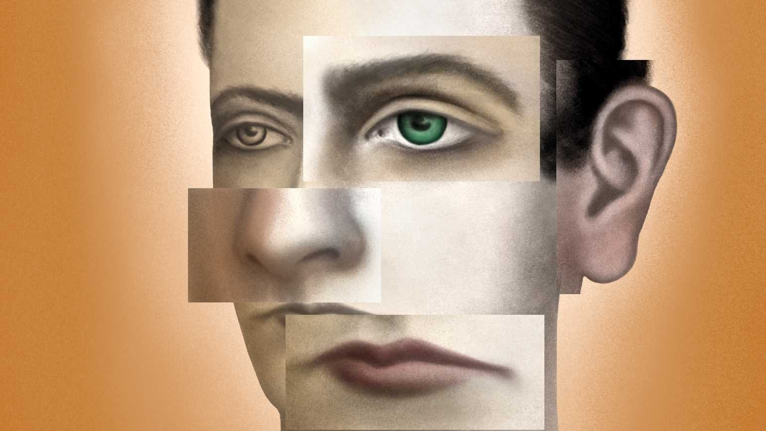 Abstract art of a human face; Illustration By Sandra Dionisi