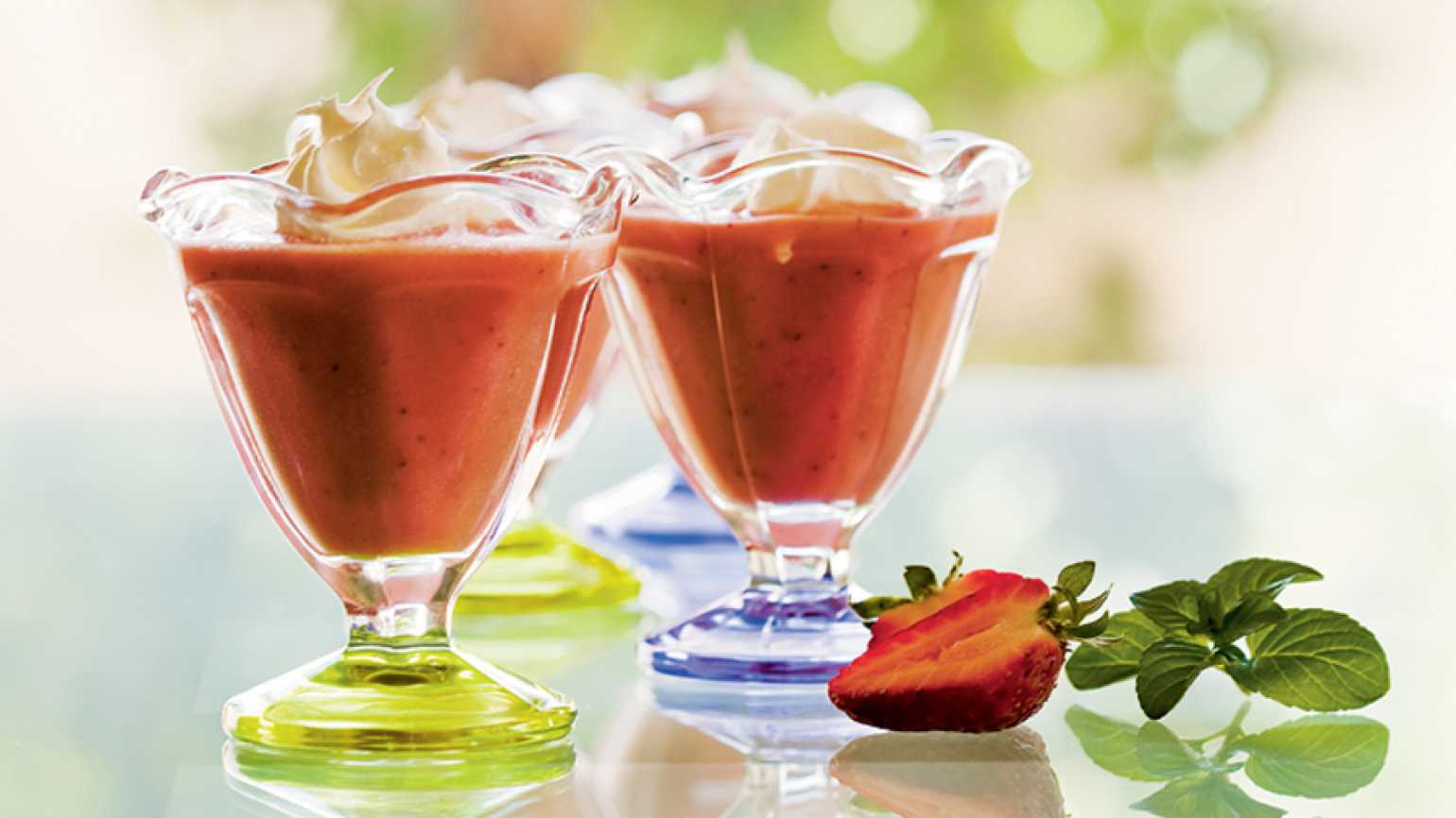 Fruity and refreshing strawberry soup