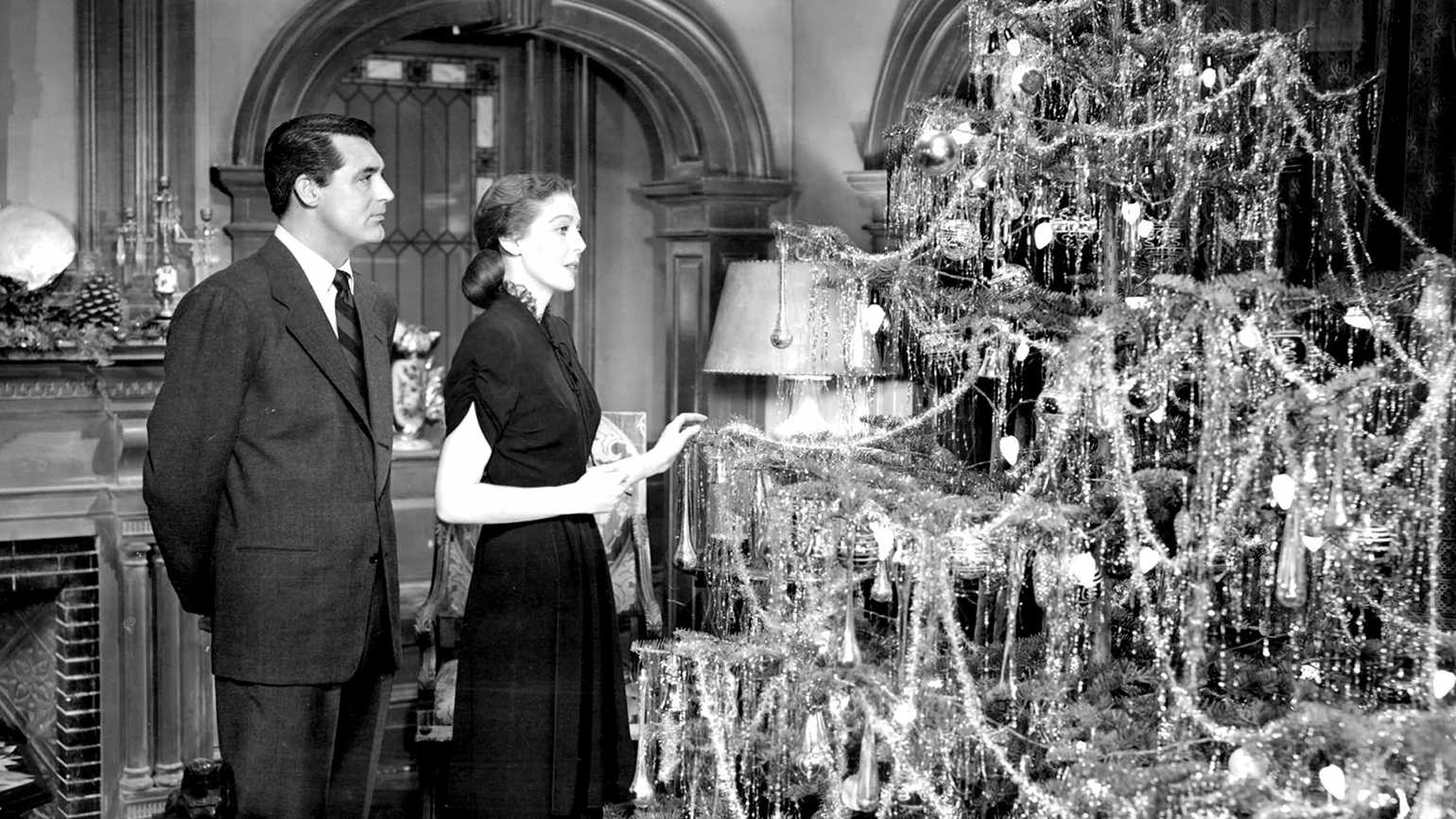 Cary Grant and Loretta Young in a scene from 'The Bishop's Wife'