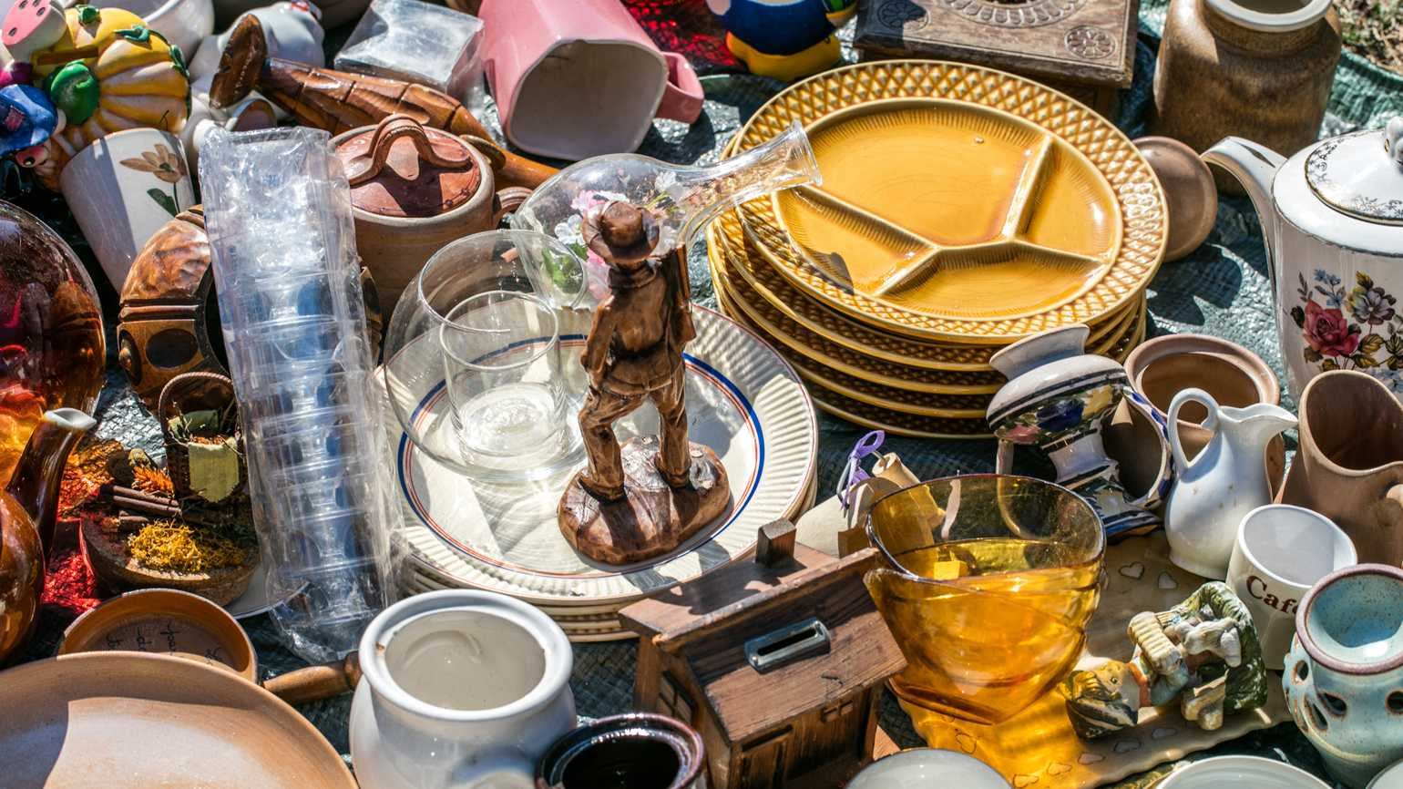Thrift store merchandise; Getty Images