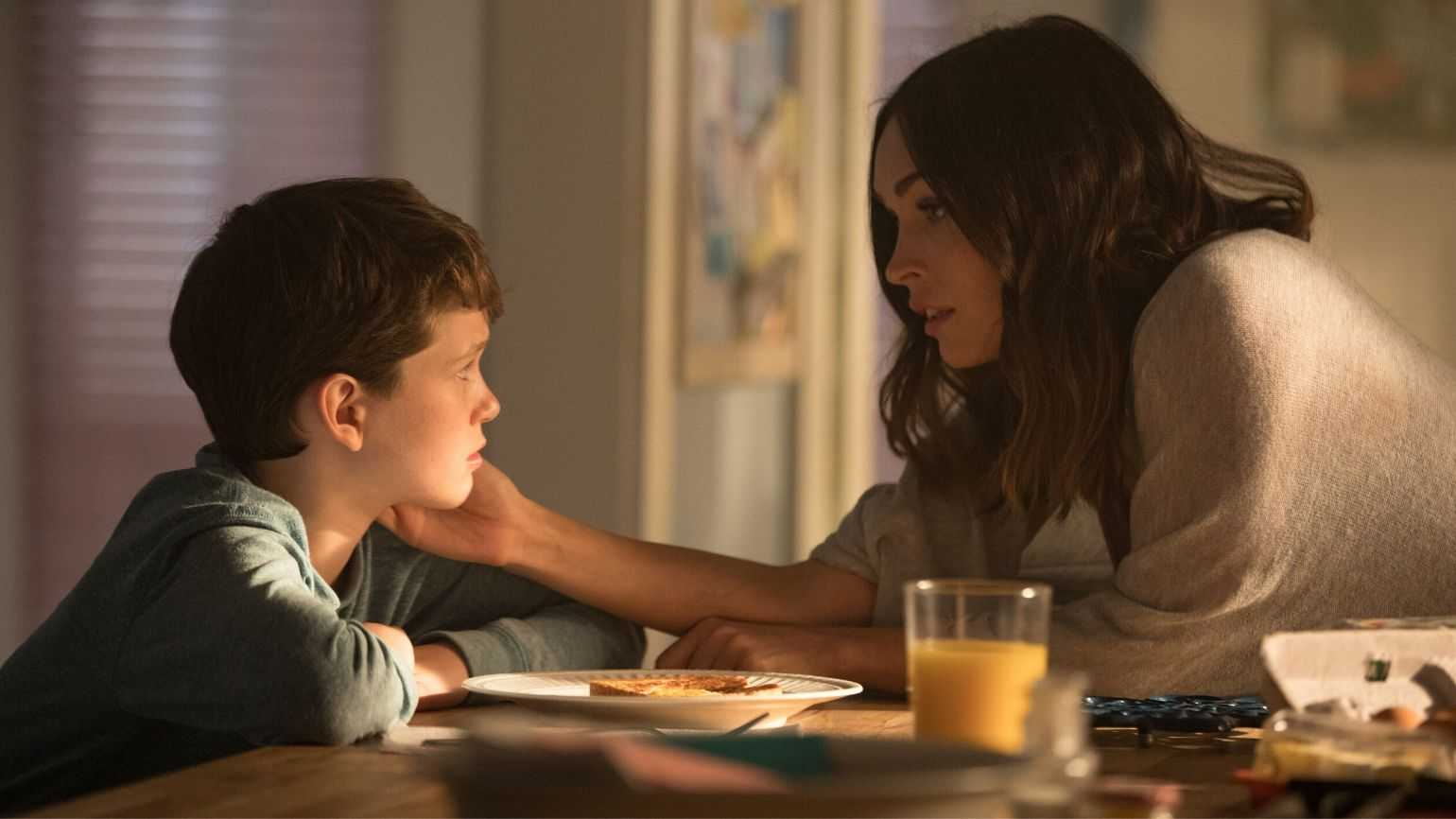 Gabriel Bateman and Megan Fox in 'Think Like a Dog'