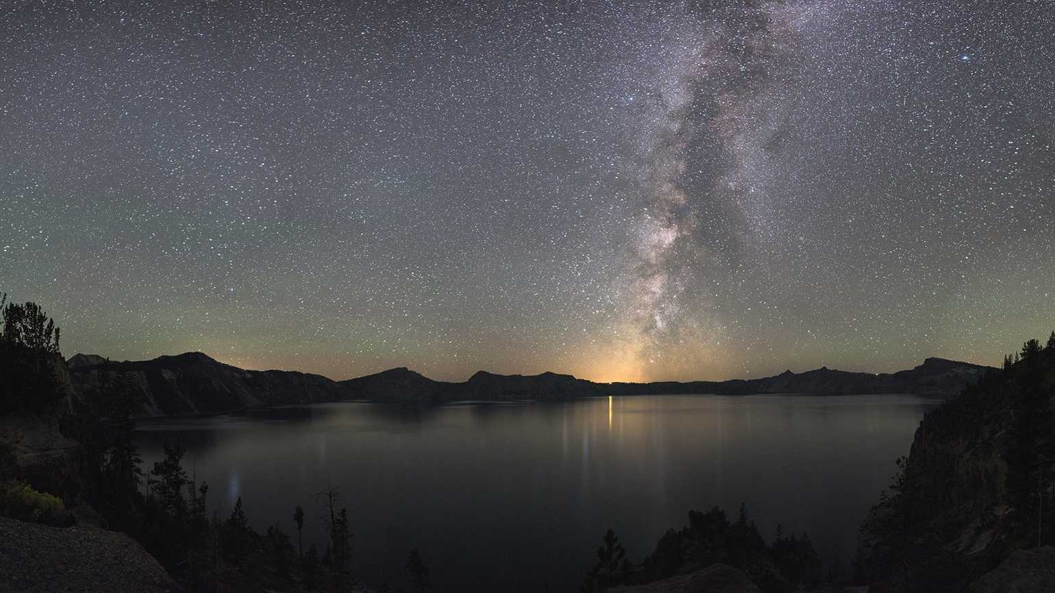 Stars light up the sky on the summer solstice