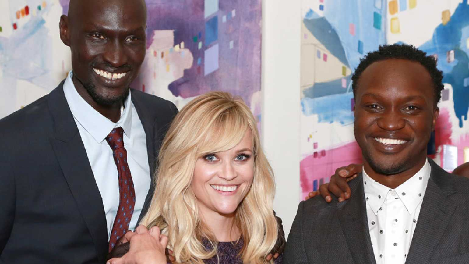 Ger Dunay, Reese Witherspoon and Arnold Oceng, stars of The Good Lie