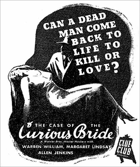 The Case of the Curious Bride poster