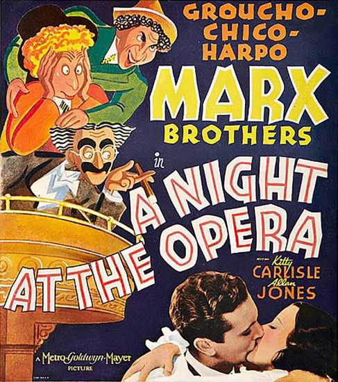 A Night at he Opera poster