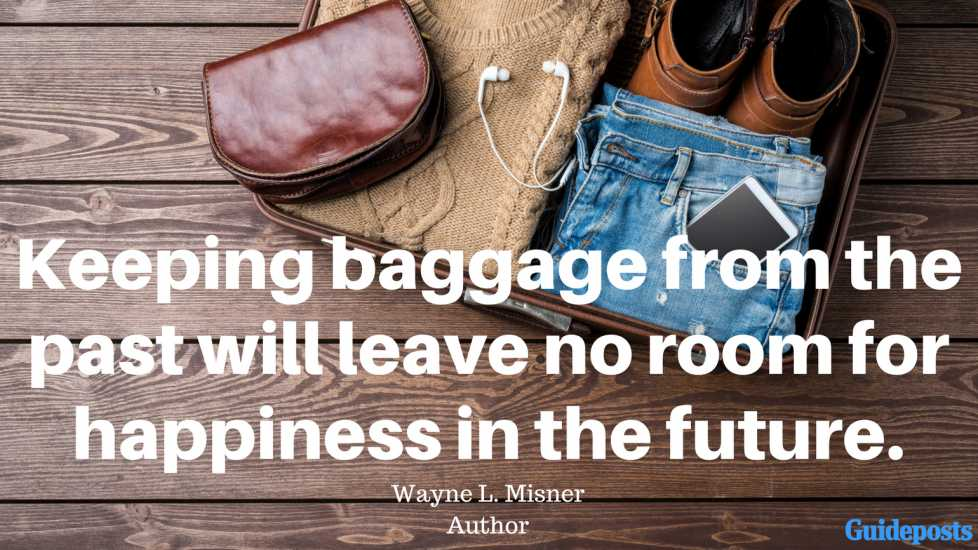 Motivational Quotes for Decluttering: Keeping baggage from the past will leave no room for happiness in the future. - Wayne L. Misner, Author better living life advice