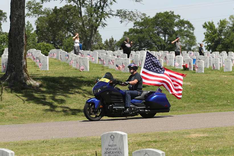 A member of the Memphis Patriot Guard Riders; photo by Karen Pulfer Focht