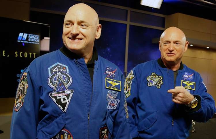 Twin space travelers Mark and Scott Kelly