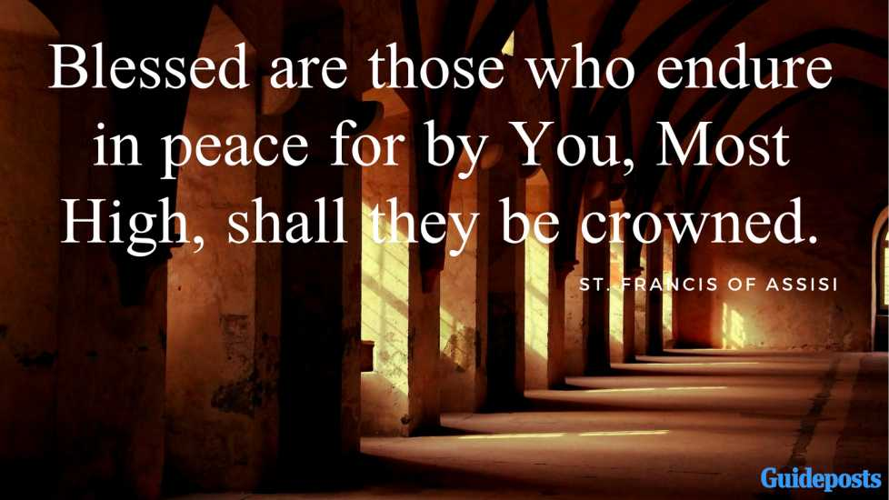 Blessed are those who endure in peace for by You, Most High, shall they be crowned.
