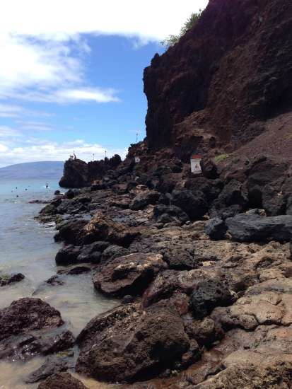 Black Rock, a cliff overlooking West Maui's lovely Kaanapali Beach.