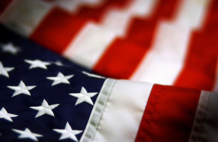 A close-up photo of the American Flag