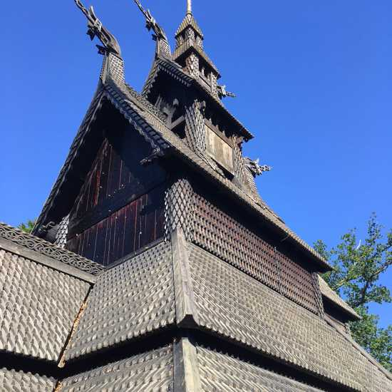 A church from Viking times in Bergen, Norway