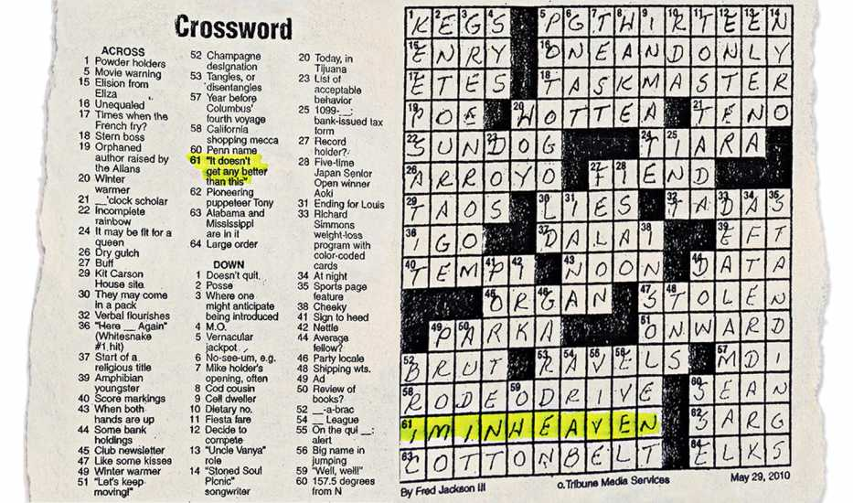 The crossword puzzle that let Rick know his friend Rich was ok.