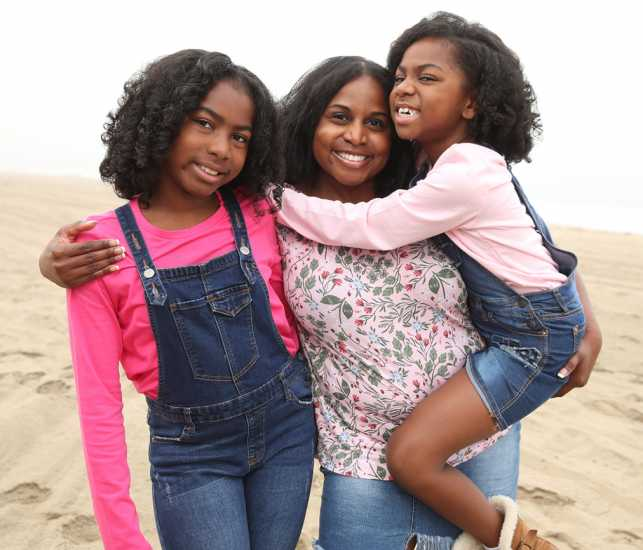 Phnesha Marchette with her daughters Gabby and Gigi