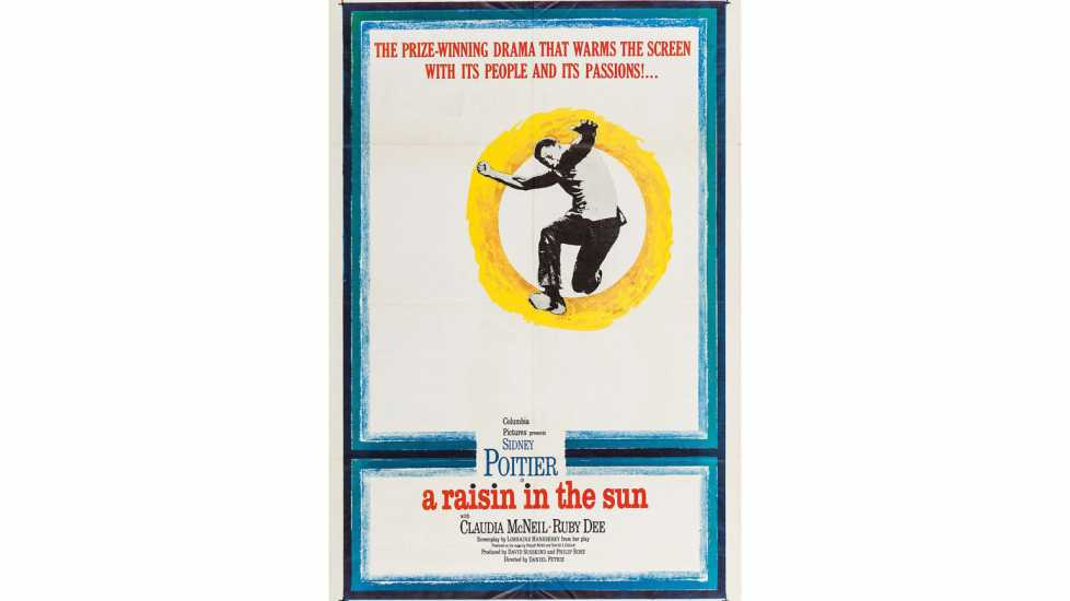 Theatrical release poster for the 1961 film A Raisin in the Sun.