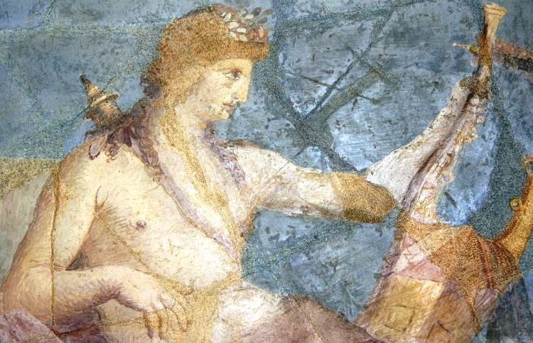 Painting of Apollo playing the lyre.