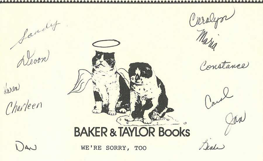 Baker and Taylor Sympathy Cards