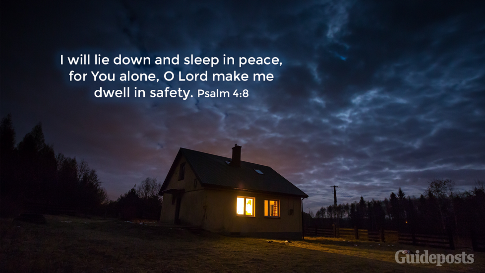 """7 Bible Verses for a Good Night's Sleep """"I will lie down and sleep in peace, for You alone, O Lord make me dwell in safety."""" Psalm 4:8 Faith Prayer Bible Resources"""