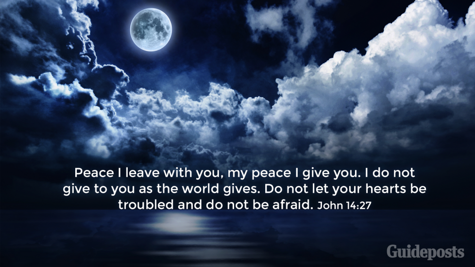"""7 Bible Verses for a Good Night's Sleep """"Peace I leave with you, my peace I give you. I do not give to you as the world gives. Do not let your hearts be troubled and do not be afraid."""" John 14:27 Faith and Prayer Bible Resources"""