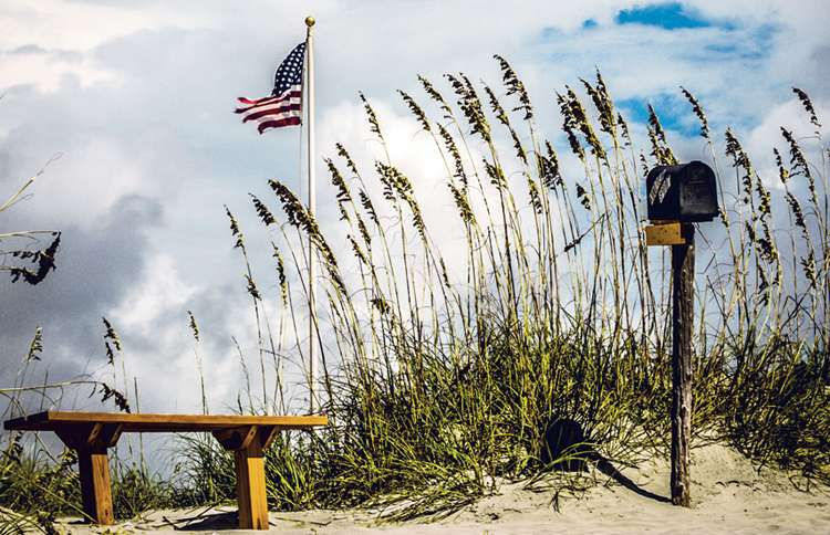 The Kindred Spirit Mailbox at Bird Island State Reserve, North Carolina