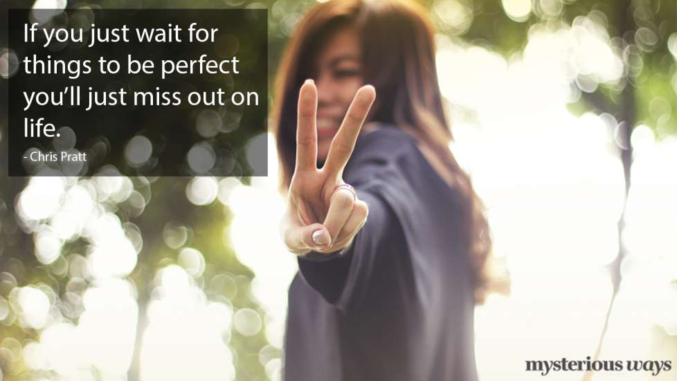 If you just wait for things to be perfect you'll just miss out on life. —Chris Pratt
