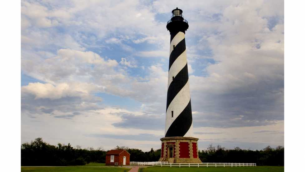 Cape Hatteras Lighthouse in Buxton North Carolina.