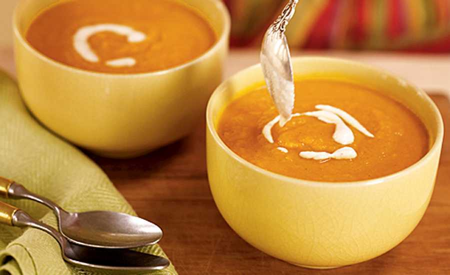 Carrot, orange and fennel soup