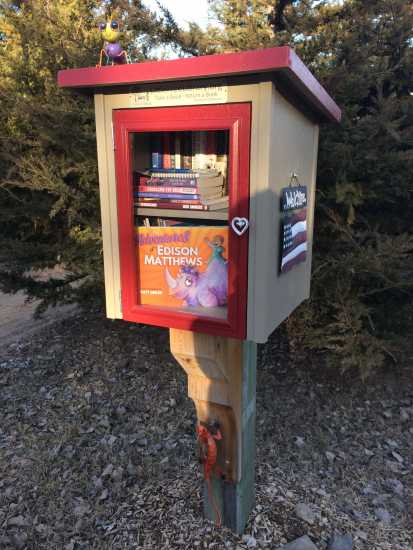 Little Free Library in Morse Bluff