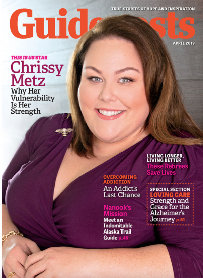 Chrissy Metz on the cover of Guideposts magazine (Guideposts)