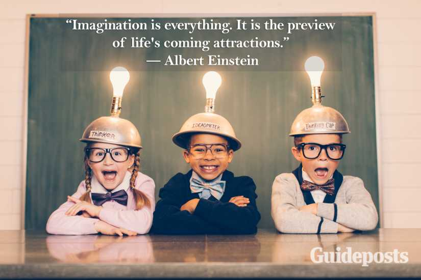 Albert Einstein quote imagination is everything. better living life advice finding life purpose
