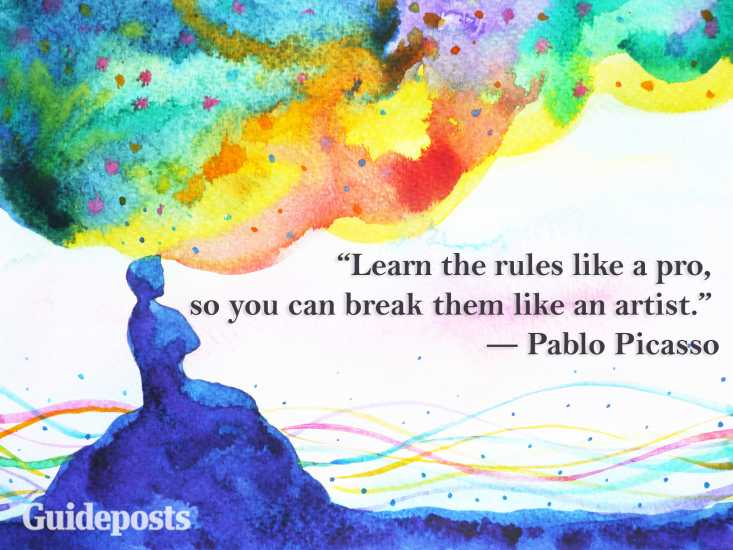 Pablo Picasso quote Learn the rules like a pro, so you can break them like an artist. better living life advice finding life purpose