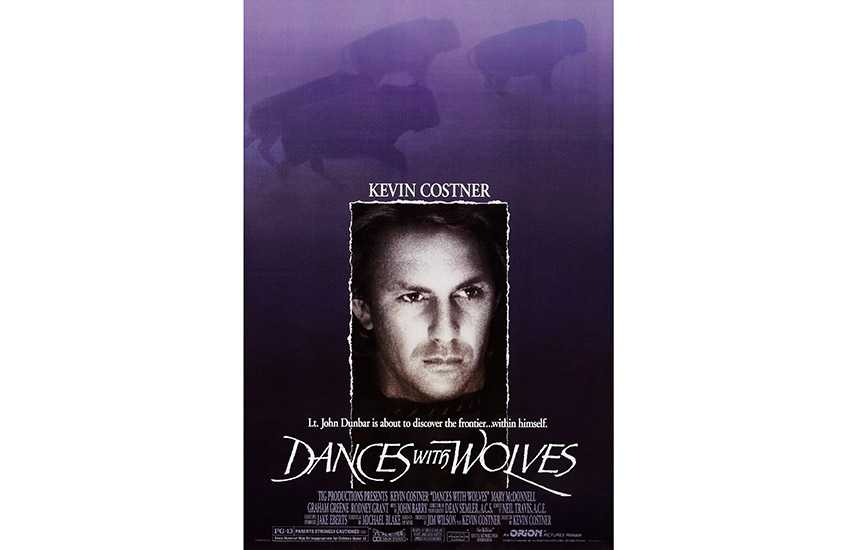 Film poster for Dances With Wolves (1990)
