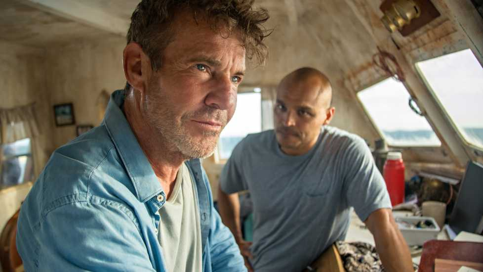 Dennis Quaid and Jimmy Gonzales in Blue Miracle (Netflix)