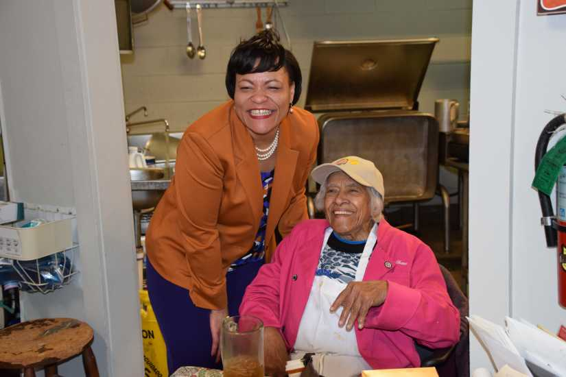 New Orleans First Woman Mayor LaToya Cantrell and Dooky Chase's Executive Chef Leah Chase
