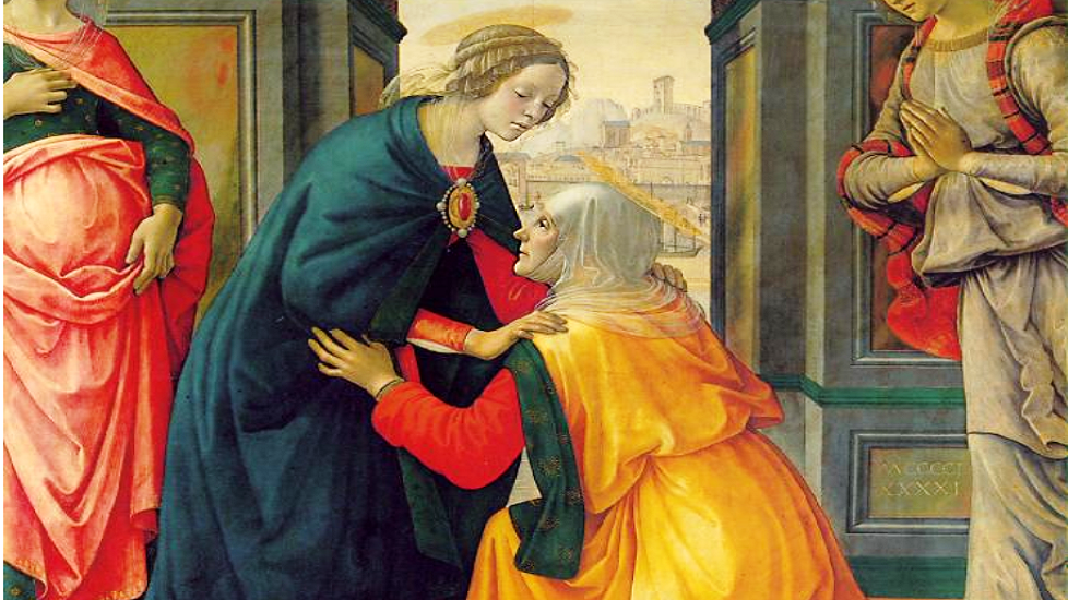 Domenico Ghirlandiao, in 1491 of the Visitation