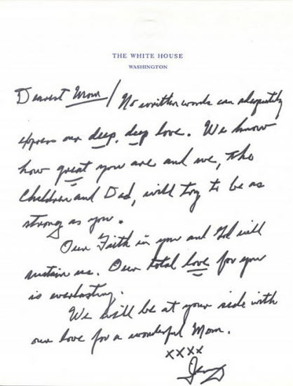 Gerald R Ford's Letter to Betty Ford