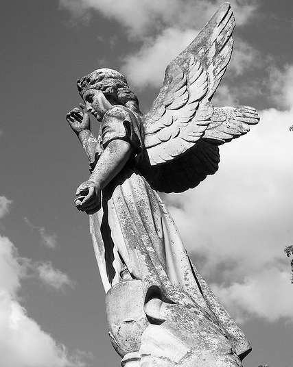 Angels like this one watched as intense fighting took place near Warsaw's Evangelical Cemetery of the Augsburg Confession during World War II.