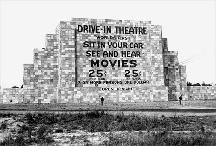 first drive-in movie theater, the brainchild of Richard M. Hollingshead, Jr.