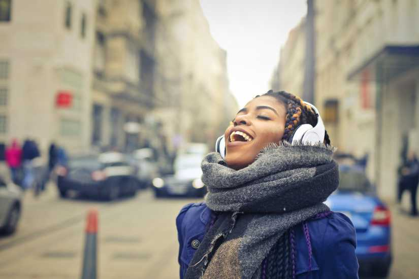 Stress Buster sing music woman listening one minute stress buster better living health and wellness