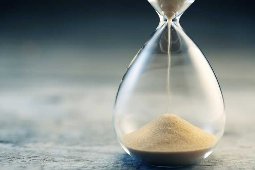 An hourglass; Getty Images