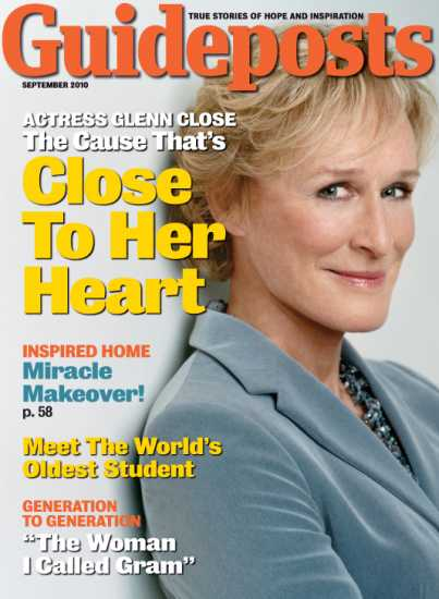 Glenn Close on the cover of Guideposts magazine (Guideposts)