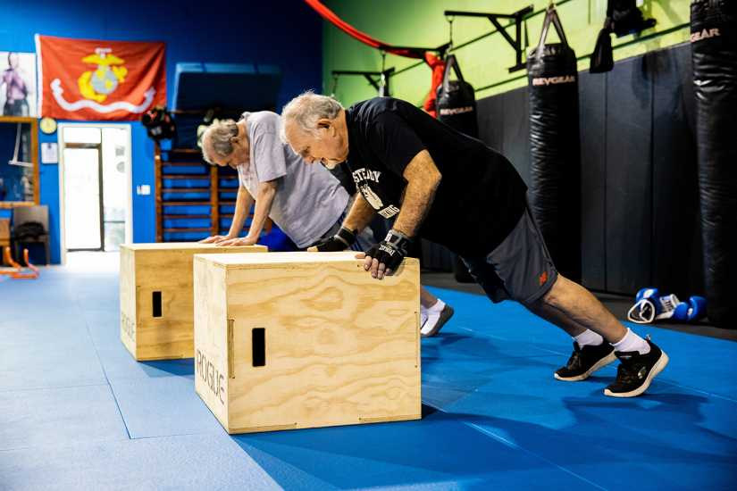 In addition to footwork drills, the RSB classes include strength training.