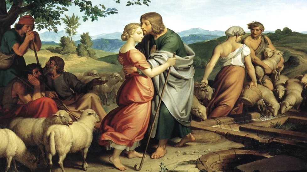 Joseph von Führich 1800–1876 Jacob Encountering Rachel with her Father's Herds