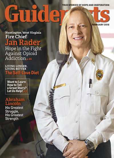 Jan Rader on the cover of Guideposts magazine (Guideposts)
