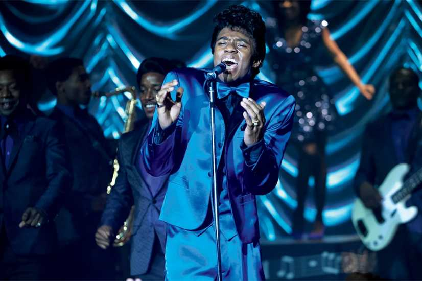 Chadwick Boseman as Jameas Brown in a scene from 'Get On Up'