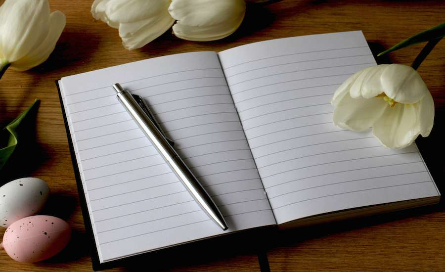 Get rid of stress by writing in a journal and have more peace